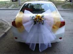 Decoration of wedding cars