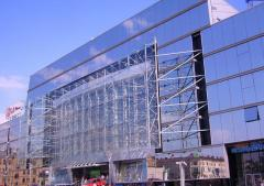 Metal construction for shopping centers