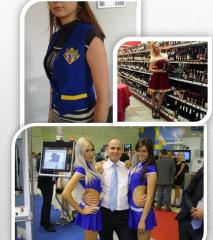Uniform promo for markets, shops and salons