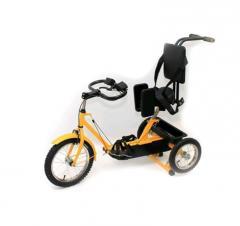 Cerebral spastic infantile paralysis bicycle