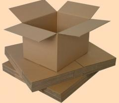 Boxes from a cardboard seven-layer