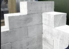 Foam concrete blocks for the base
