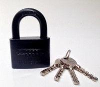 Hinged door lock