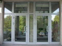 Doors from the aluminum shape in Almaty