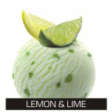 The refreshing lemon sorbet with lime dried peel