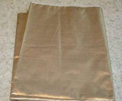 The fabric metallized