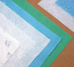 Fabric to a podkladochnayaa from polyester fiber