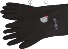 Gloves for abrazivostruyny cabin like RGA