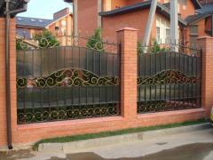 Забор металлический сварной - вариант 1