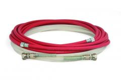 Hoses of a low and high pressure