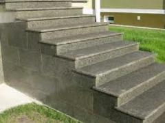 Steps from porcelain tile