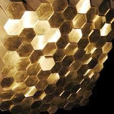Hexagon of brass 3 - 180 mm of LS59-1 L63