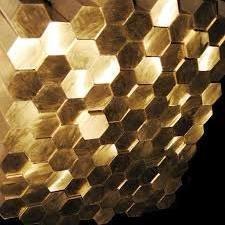 Hexagon of brass 3 - 180 mm of LS59-1 L63
