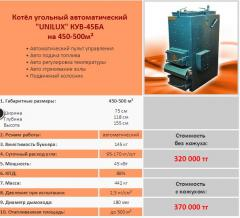 Copper coal automatic Unilux 450-500m ²