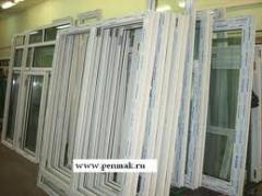 Windows are polyvinylchloride, the PVC windows,