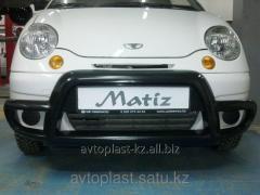 Front lip kenguryatnik on Daewoo Matiz