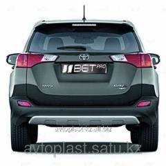 Protection of rear bumper, silver for Toyota Rav4