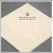 Napkins with drawing a logo single-layer 33x33 cm