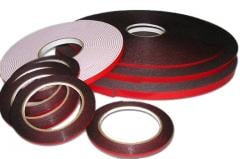Adhesive bilateral tape on the made foam basis