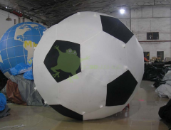 Helium aerostat in the form of soccerball with a