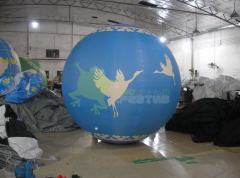 Aerostat with a diameter of 2.5 m with drawing the