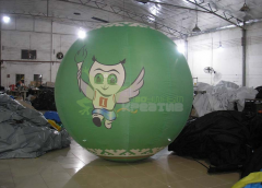 Aerostat with a diameter of 2,5 m. Registration of