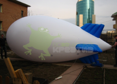 The pneumostand aerostat - the airship, length is
