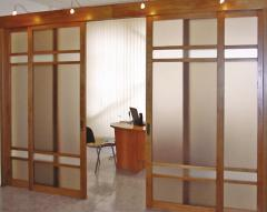 Sliding interroom partitions
