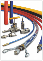 Thermoplastic hoses for ultrahigh pressure