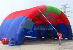 Inflatable scenic canopy