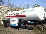 Semi-trailer tank gas-filling