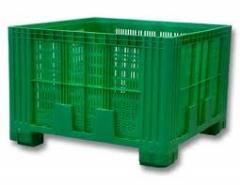 Containers from polyethylene, plastics, rubber