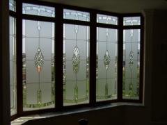 Stained-glass windows are window