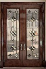 Stained-glass windows are door
