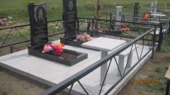 Granite monuments tiles, figured with laying, on