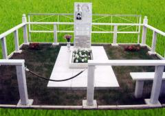 Ограждение могилы мраморное