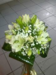 Bridal bouquet from a white lily