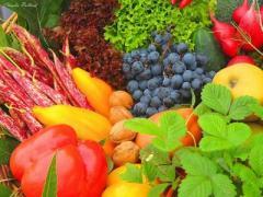 Фрукты  овощи  крупы зерно бобовые