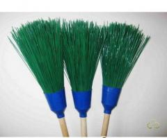 The broom plastic the 3rd, 4-row with shank