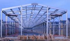 Metal framework for greenhouses and hangars
