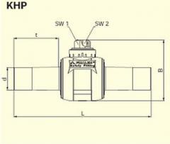 Кран шаровый из ПЭ-ВП KHP d180