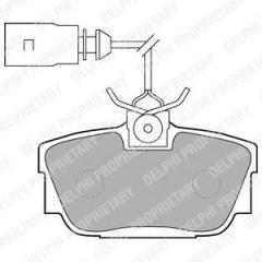 Delphi LP1541 brake shoe
