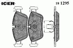 Icer 181295 brake shoe