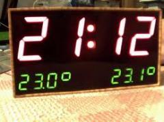 Часы-термометр светодиодные, LED дисплеи, Дисплеи