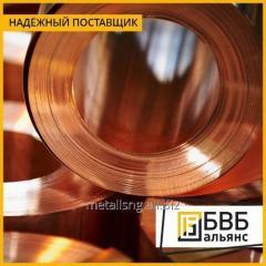La cinta el BrOF6,5-0,15 de bronce