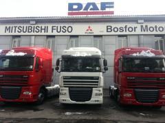 Car DAF XF105 truck tractor