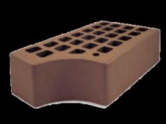 Ceramic brick dark brown one-and-a-half KF-1