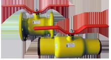 Кран шаровый газовый фланцевый, приварной EMKA