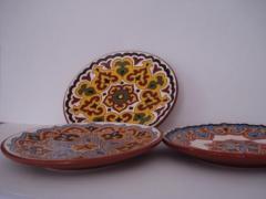 Plate decorative engraved