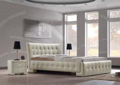 Кровать, спальни - мебель из натурального дерева